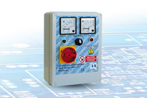 QAD2/400P VA-RL - Quadro avviatore diretto per Elettropompe Trifase A 400V Da 0,50HP A 15HP Con Relè di Livello e Voltmetro - Amperometro
